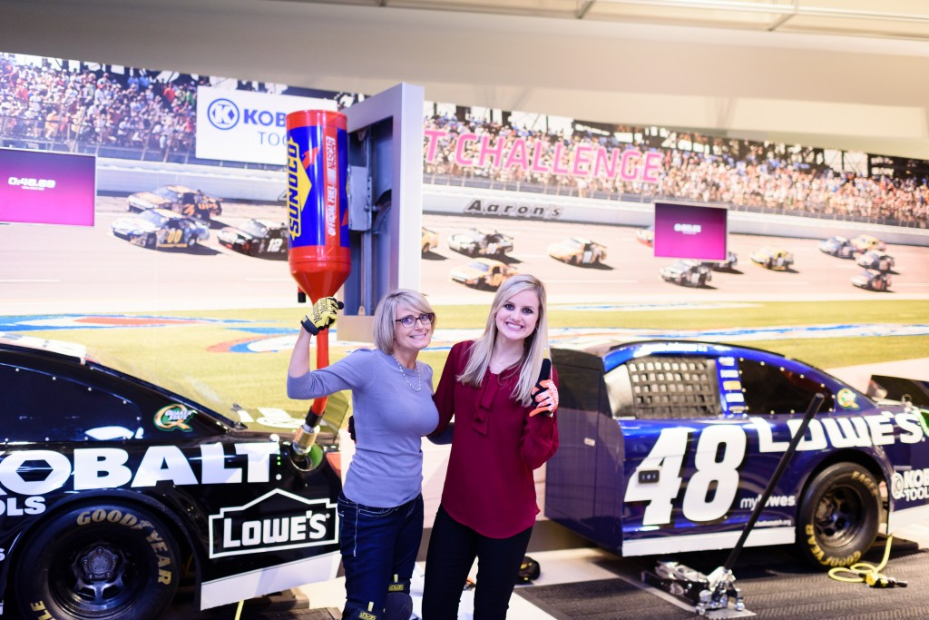 (L-R) Alesia Hicks & Dr. Kelly Summers from Allisonville Eye Care in Fishers, IN at the NASCAR Hall of Fame