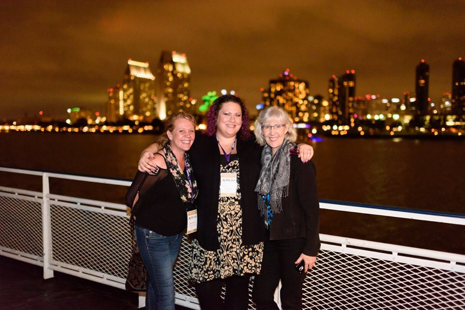 (L-R) Teresa Wiser, Heather Branderhorst & Dr. Carol Marusich from Lifetime Eye Care in Eugene, OR on the Admiral Hornblower Cruise