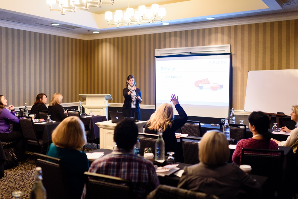 PECAA Membership Manager Sara Campbell presenting in the Practice Management Workshop